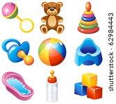 baby icons set | Shutterstock . vector #62984443