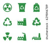 pollution icons set. set of 9... | Shutterstock .eps vector #629846789
