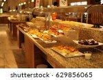 a buffet restaurant in a hotel. | Shutterstock . vector #629856065