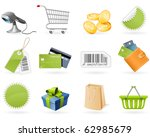 shopping and retail icons | Shutterstock .eps vector #62985679