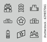 ranking icons set. set of 9... | Shutterstock .eps vector #629857061