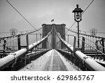 Brooklyn Bridge Snow Scene