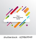 vector background with paper... | Shutterstock .eps vector #629869949