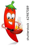 illustration of a chili... | Shutterstock .eps vector #62987089