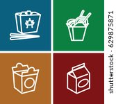 takeaway icons set. set of 4... | Shutterstock .eps vector #629875871