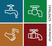 obsolete icons set. set of 4... | Shutterstock .eps vector #629878661