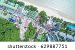 tropical landscape from aerial... | Shutterstock . vector #629887751