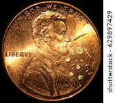 Small photo of Foraminifera on a Penny
