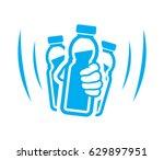 shake bottle of yogurt before... | Shutterstock .eps vector #629897951