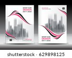 pink cover design  annual... | Shutterstock .eps vector #629898125