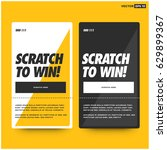 scratch here to win card design | Shutterstock .eps vector #629899367