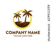 summer theme logo template | Shutterstock .eps vector #629911559