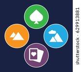 peak icons set. set of 4 peak... | Shutterstock .eps vector #629913881