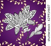 traditional classic golden... | Shutterstock .eps vector #629914607