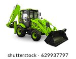 Green Earth Mover Isolated On ...