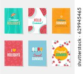 summer season cards | Shutterstock .eps vector #629945465