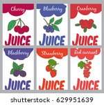 hand drawn natural juices... | Shutterstock .eps vector #629951639