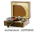 Vintage Portable Record Record...