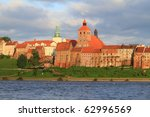 Granaries of Grudziadz at Wisla river - Poland - stock photo