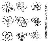 vector set of doodle cute...   Shutterstock .eps vector #629975534