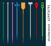 cable ties many type vector | Shutterstock .eps vector #629976791