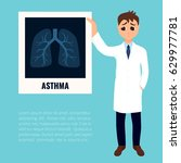 asthma awareness poster with a... | Shutterstock .eps vector #629977781