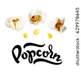 popcorn vector illustration... | Shutterstock .eps vector #629978645