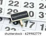 appointment reminder on... | Shutterstock . vector #629982779