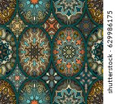 colorful vintage seamless...   Shutterstock .eps vector #629986175