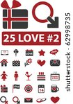 25 love signs. vector   Shutterstock .eps vector #62998735