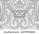 pattern flower coloring book... | Shutterstock .eps vector #629993834
