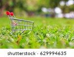 close up shot of shopping cart...   Shutterstock . vector #629994635