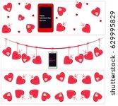 valentine web header | Shutterstock .eps vector #629995829