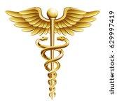 caduceus medical icon. | Shutterstock .eps vector #629997419