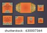 vintage wedding invitation... | Shutterstock .eps vector #630007364