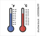 celsius and fahrenheit... | Shutterstock .eps vector #630008699