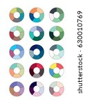 spectrum wheels with the... | Shutterstock .eps vector #630010769