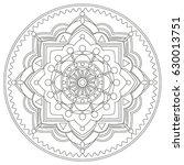 mandala vector illustration....   Shutterstock .eps vector #630013751