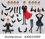 businessman character creation... | Shutterstock .eps vector #630015089