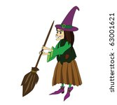 vector illustration of witch... | Shutterstock .eps vector #63001621
