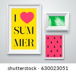 set realistic white frame on... | Shutterstock .eps vector #630023051