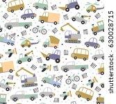 cute vector transport pattern.... | Shutterstock .eps vector #630028715