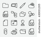 document icon. set of 16... | Shutterstock .eps vector #630031205