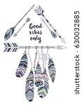 vector illustration with tribal ... | Shutterstock .eps vector #630032885