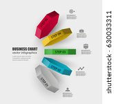 3d hexagon vector template... | Shutterstock .eps vector #630033311