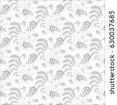 floral light grey pattern ... | Shutterstock .eps vector #630037685