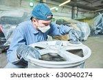 repair mechanic worker with... | Shutterstock . vector #630040274