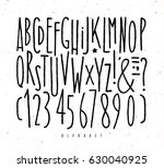 alphabet set straight lines... | Shutterstock .eps vector #630040925