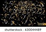gold and silver confetti....   Shutterstock .eps vector #630044489