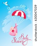 baby shower  card  invitation.... | Shutterstock . vector #630047039